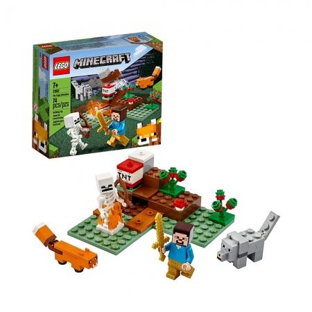 Lego Minecraft A Aventura em Taiga - Lego 21162 - 74 peças