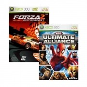Marvel Ultimate Alliance + Forza  Motorsport 2 - Xbox 360 - USADO