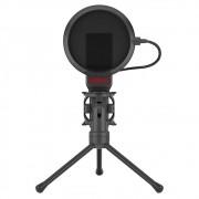 Microfone Gamer Streamer Redragon Seyfert Com Tripé Black - GM100