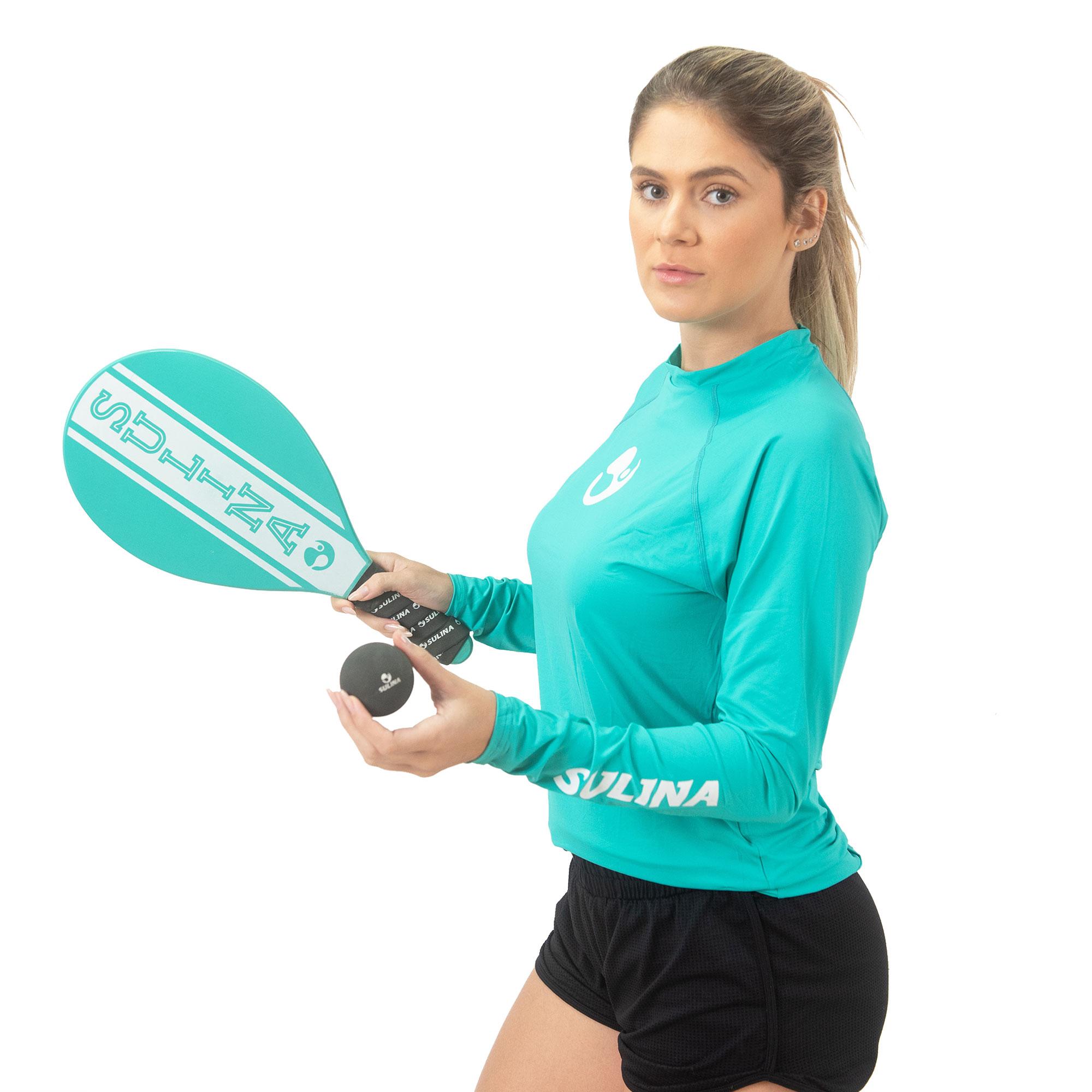 Camiseta Sulina Manga Longa UV 50+  Térmica Ciano