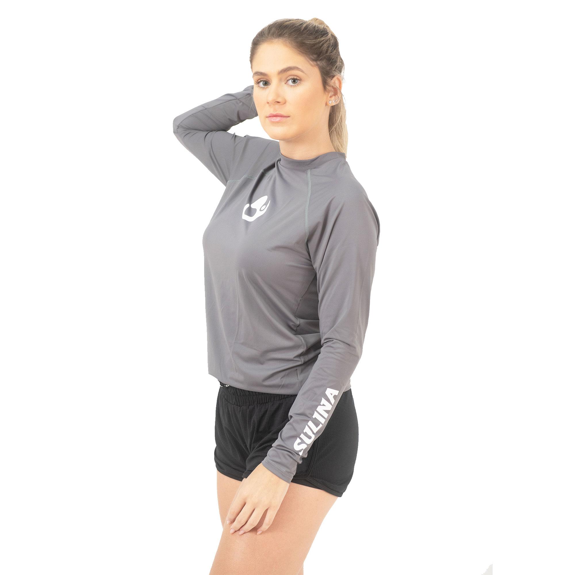 Camiseta Sulina Manga Longa UV 50+  Térmica Cinza