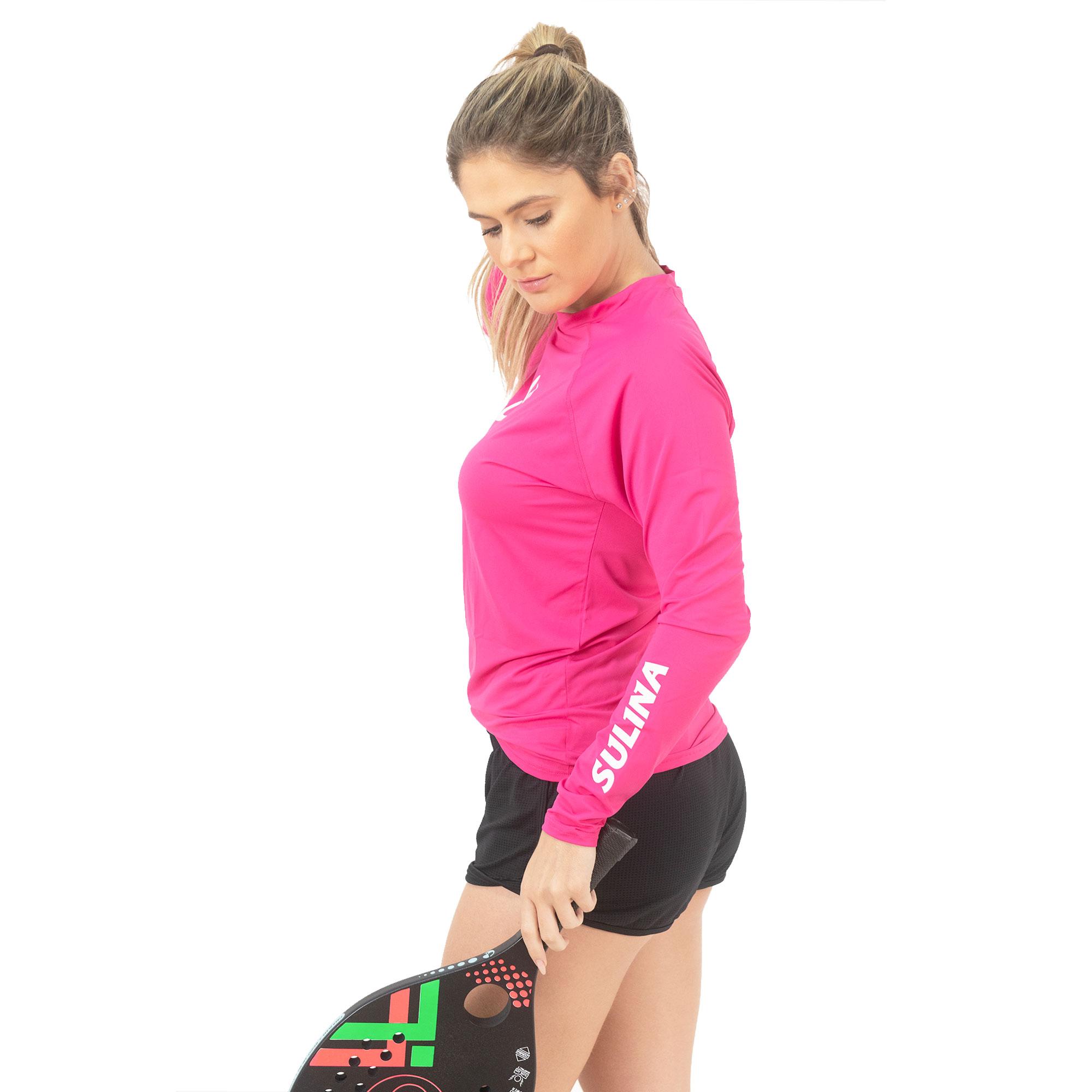 Camiseta Sulina Manga Longa UV 50+  Térmica Pink