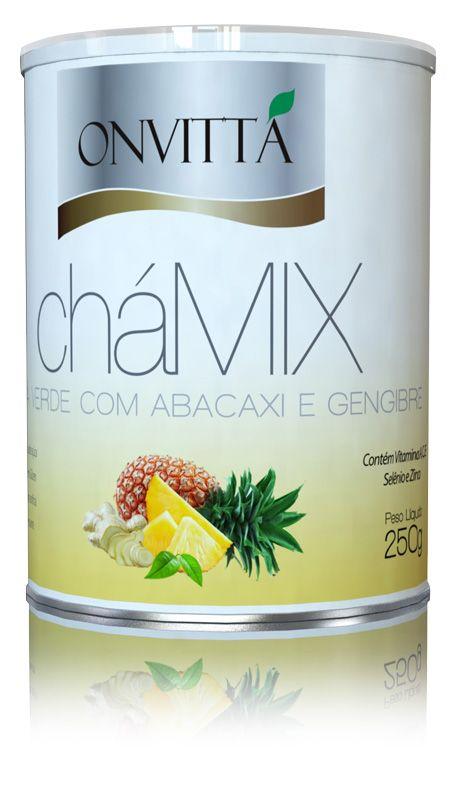 CháMix sabor Chá verde com abacaxi e gengibre