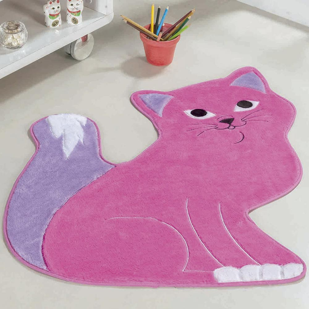 4fcfa455a Tapete Infantil Pelúcia Gatinha Manhosa - Pink - Casa Scarpa Enxovais