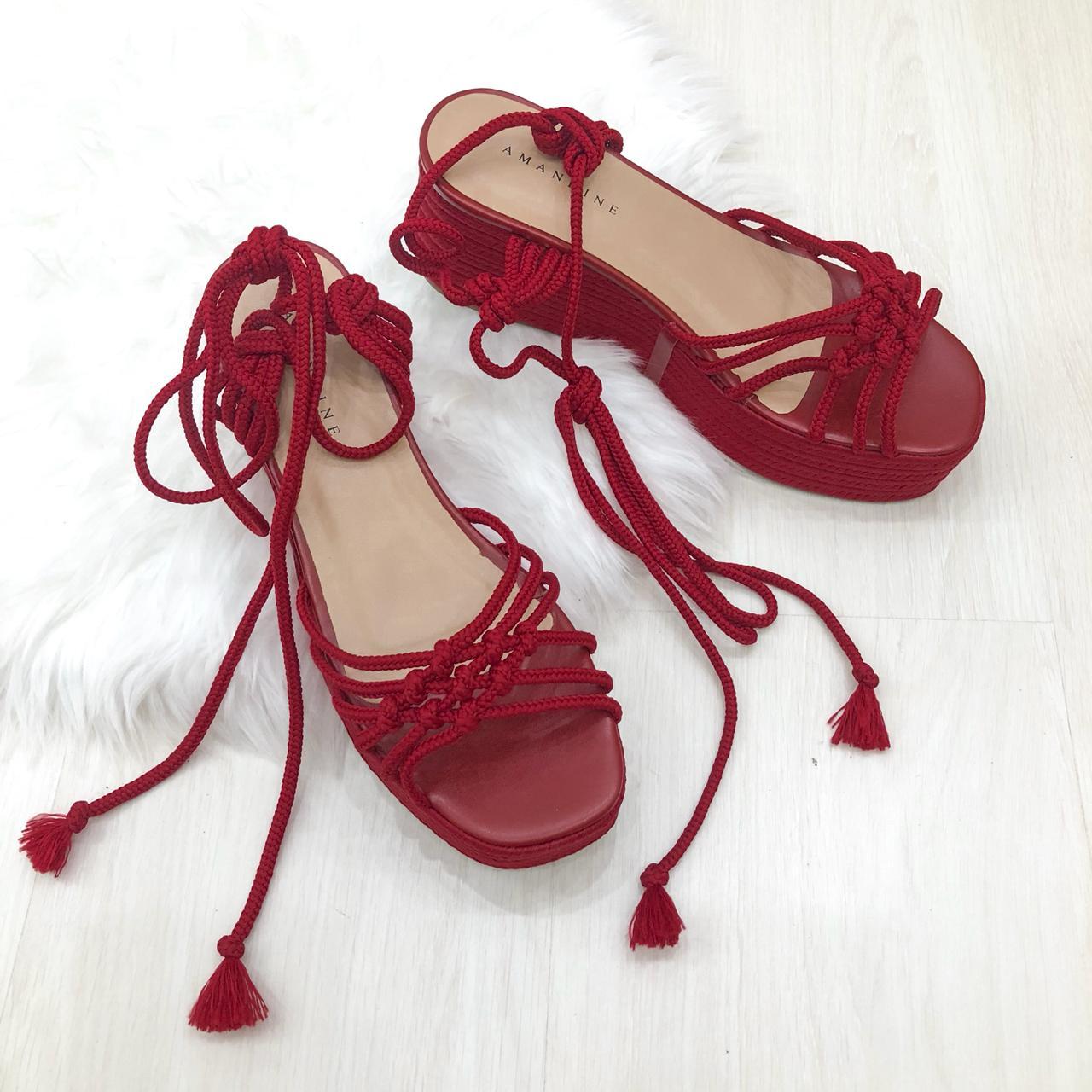 34ead9761d Tamanco Marbella VermelhoSandáliasAmandine Shoes