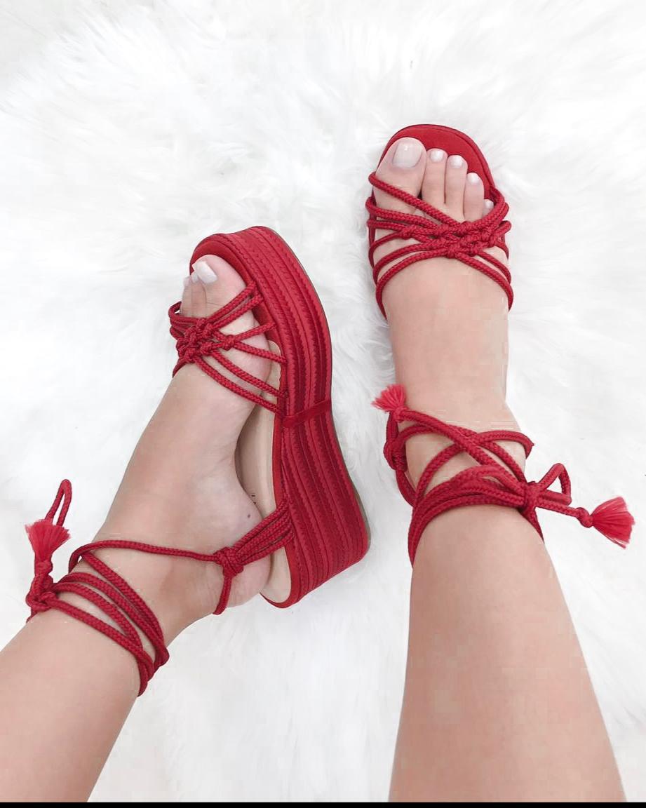 a1b3c35b52a07 sandalias sandalia anabela corda pretoAmandine Shoes
