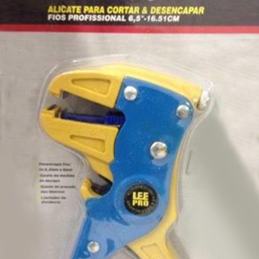 "Alicate De Cortar E Desencapar Fios 6,5"" 16,51cm - Lee Tolls"
