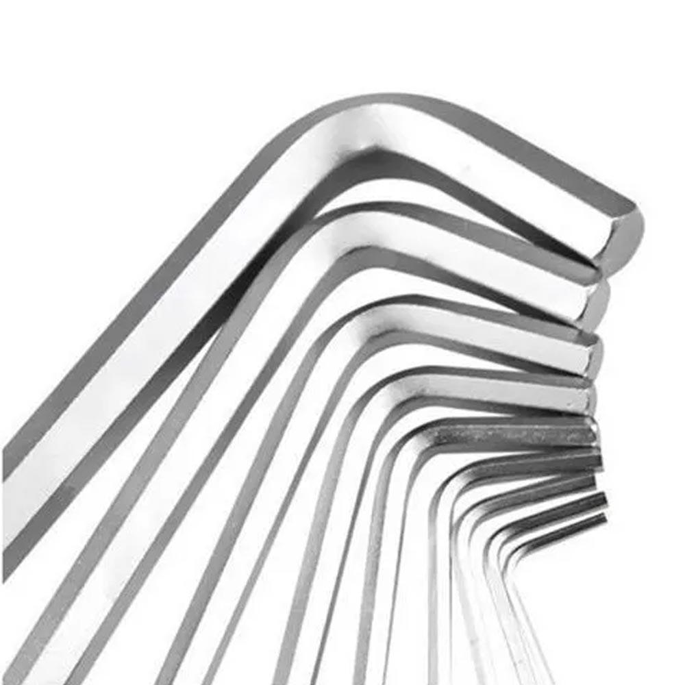 Chave Allen Jogo Com 9 Pçs Longa 1,5-10mm- EDA