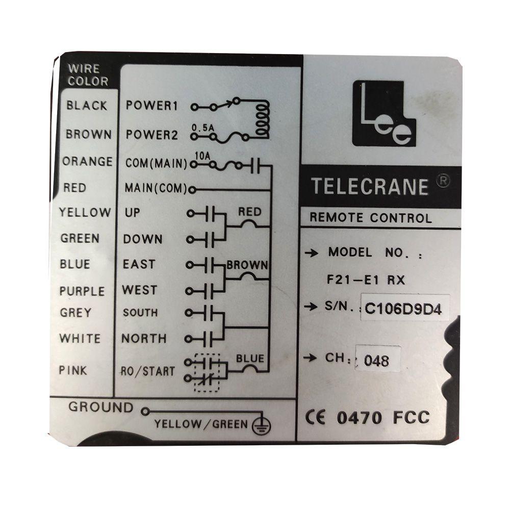 Controle Remoto Para Talhas CD-1 - 6 Botões