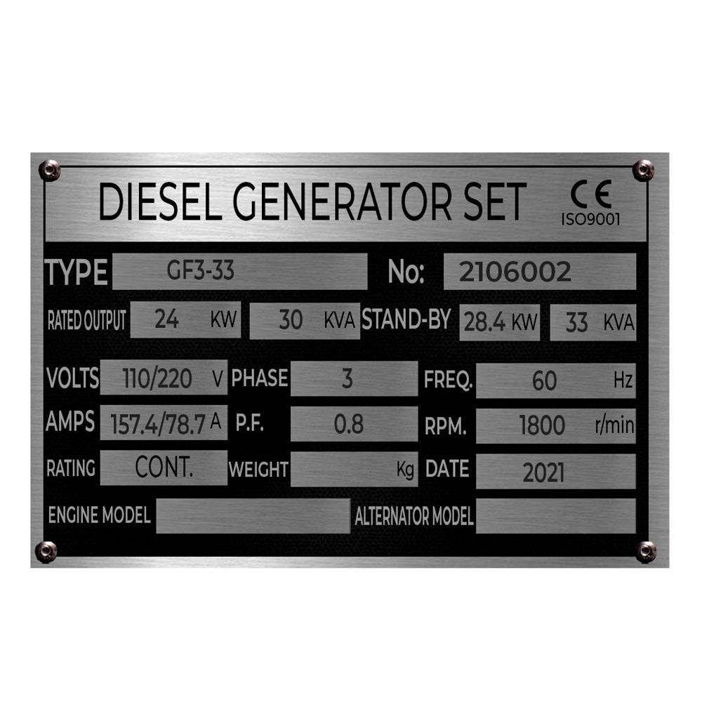 Gerador 30KVA/24KW 4cc Cabinado Diesel Painel ATS 110/220V