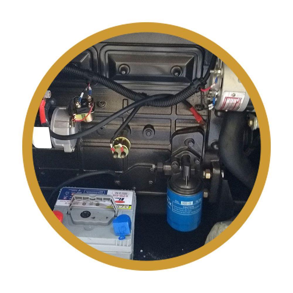 Gerador 30KVA/24KW Cabinado - Motor a Diesel com Painel ATS - Branco