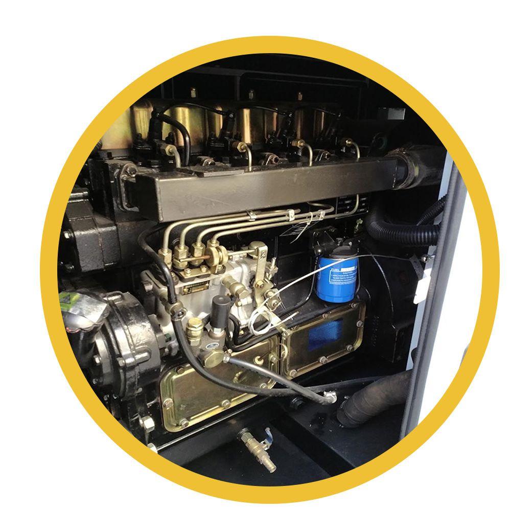 Gerador 65KVA/50KW 4cc Turbo - Cabinado - Motor a Diesel com Painel QTA - Branco