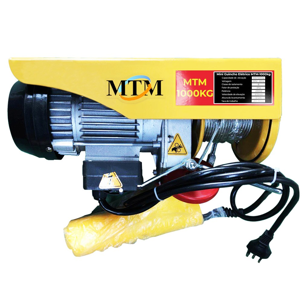 Guincho/Talha Elétrica PA1000 - 1000kg - Com Troller 220v/60hz - 20 Metros