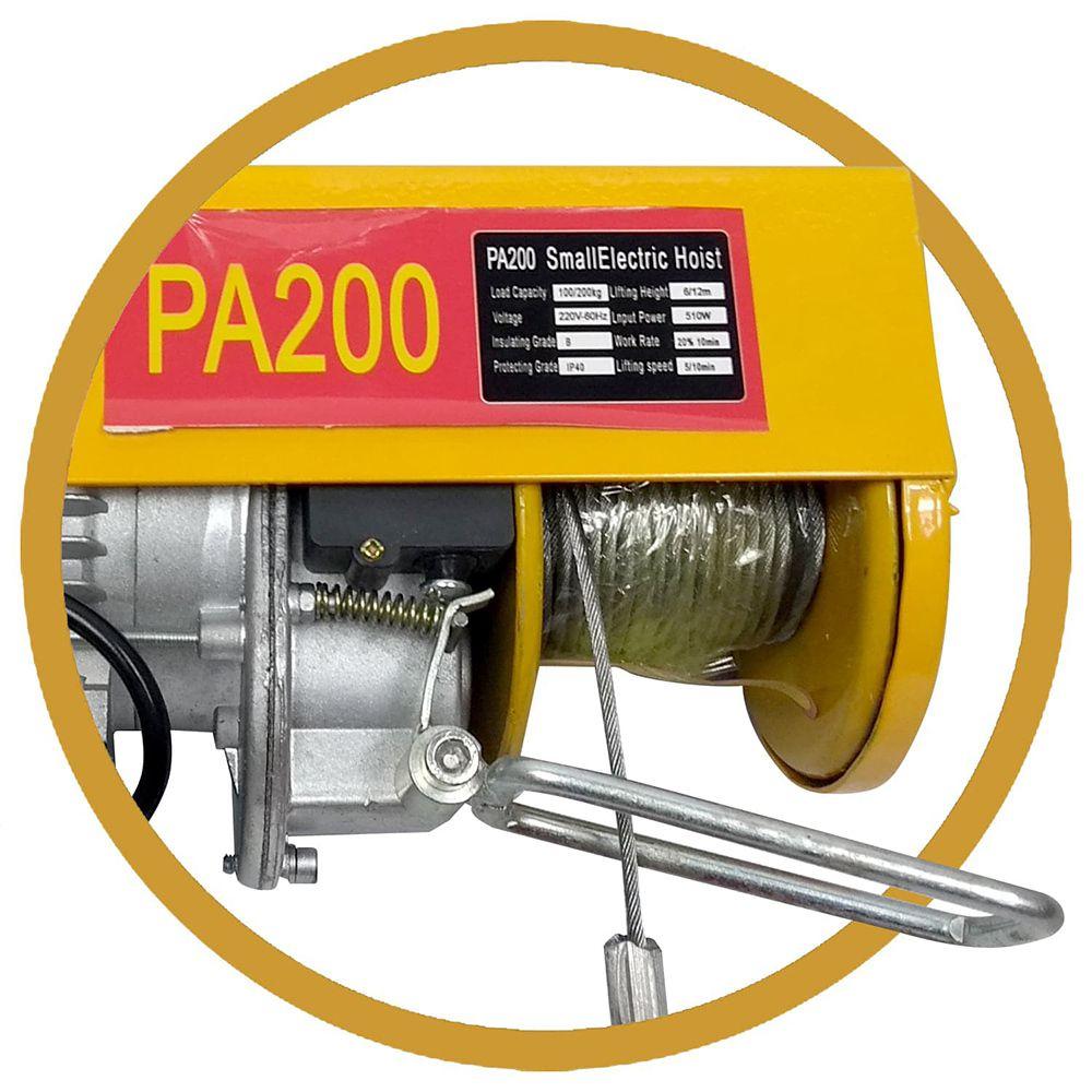 Guincho/talha Elétrica PA200 200Kg - 220v - 12 Metros