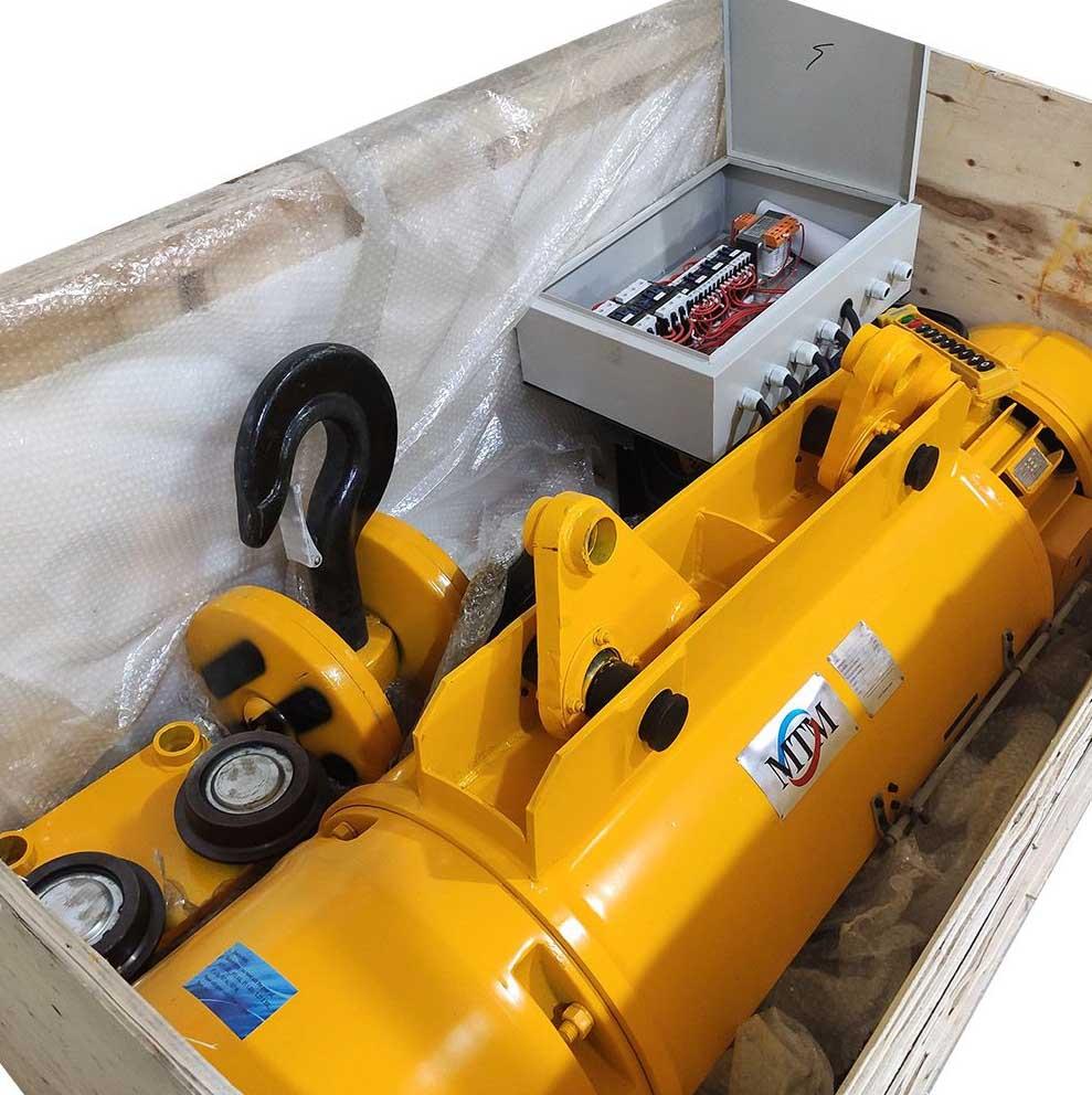 Talha Elétrica 10 Toneladas MD1 (Dupla Velocidade) - 9m de Cabo de Aço Troller 220/380v 60hz