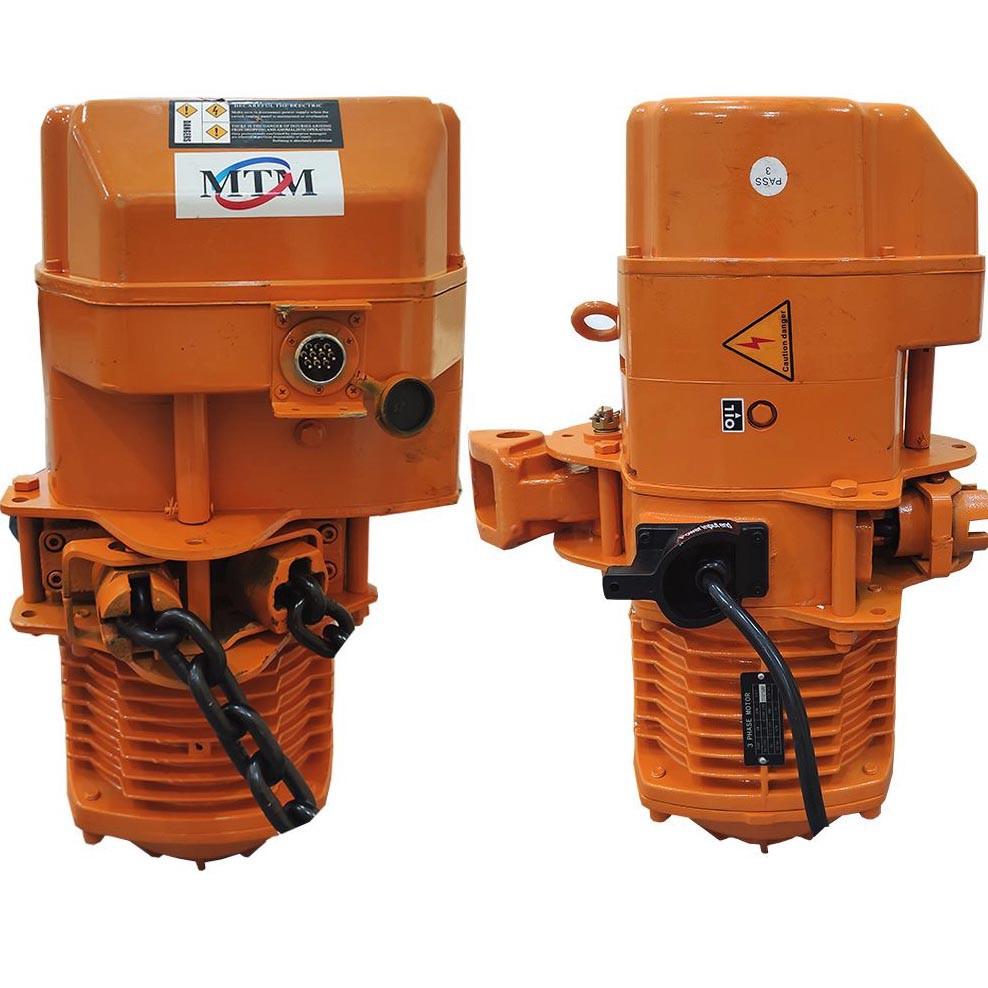 Talha Elétrica 1 Tonelada - 9m de Corrente - 220/380v com Troller