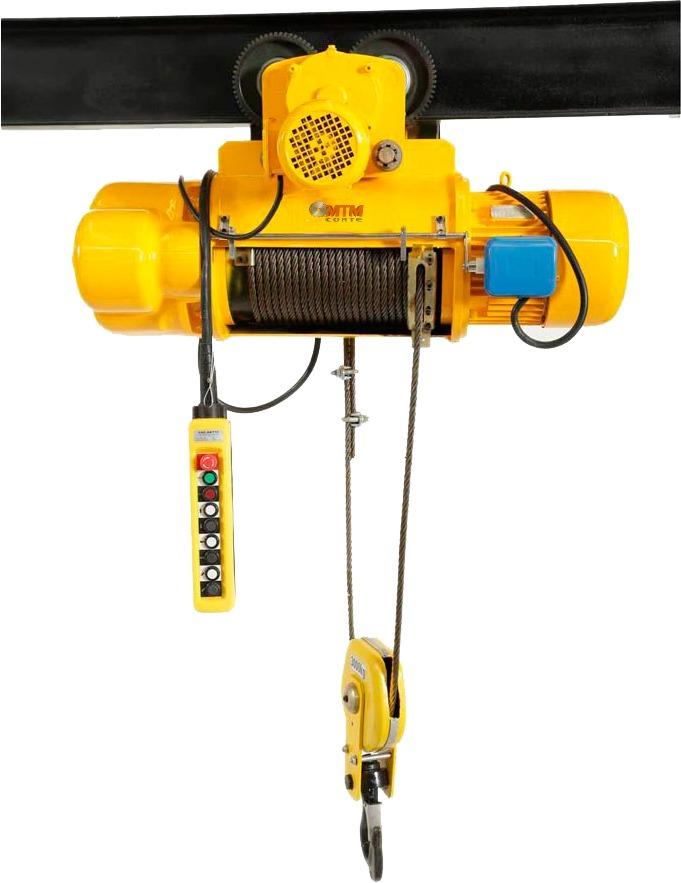 Talha Elétrica 1 Tonelada CD1 - (Uma Velocidade) 9m de Cabo de Aço - Troller 220/380v 60hz