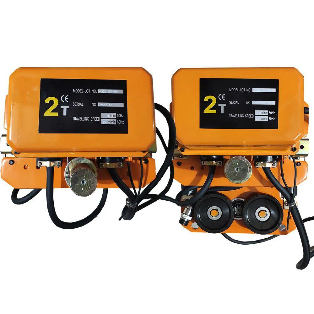 Talha Elétrica 2 Toneladas - 9m de Corrente - 220/380v 60hz com Troller