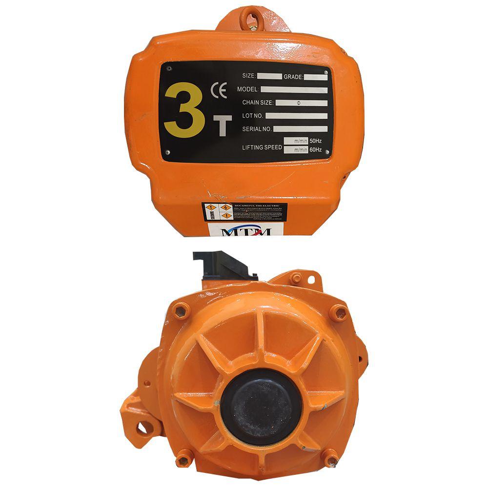 Talha Elétrica 3 Toneladas - 9m de Corrente - 220/380v com Troller