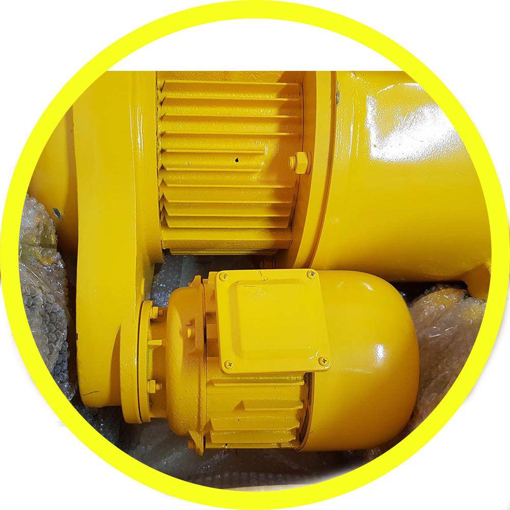 Talha Elétrica 3 Toneladas MD1 (Velocidade Dupla) - 9m de Cabo Aço - Troler 220/380v 60hz