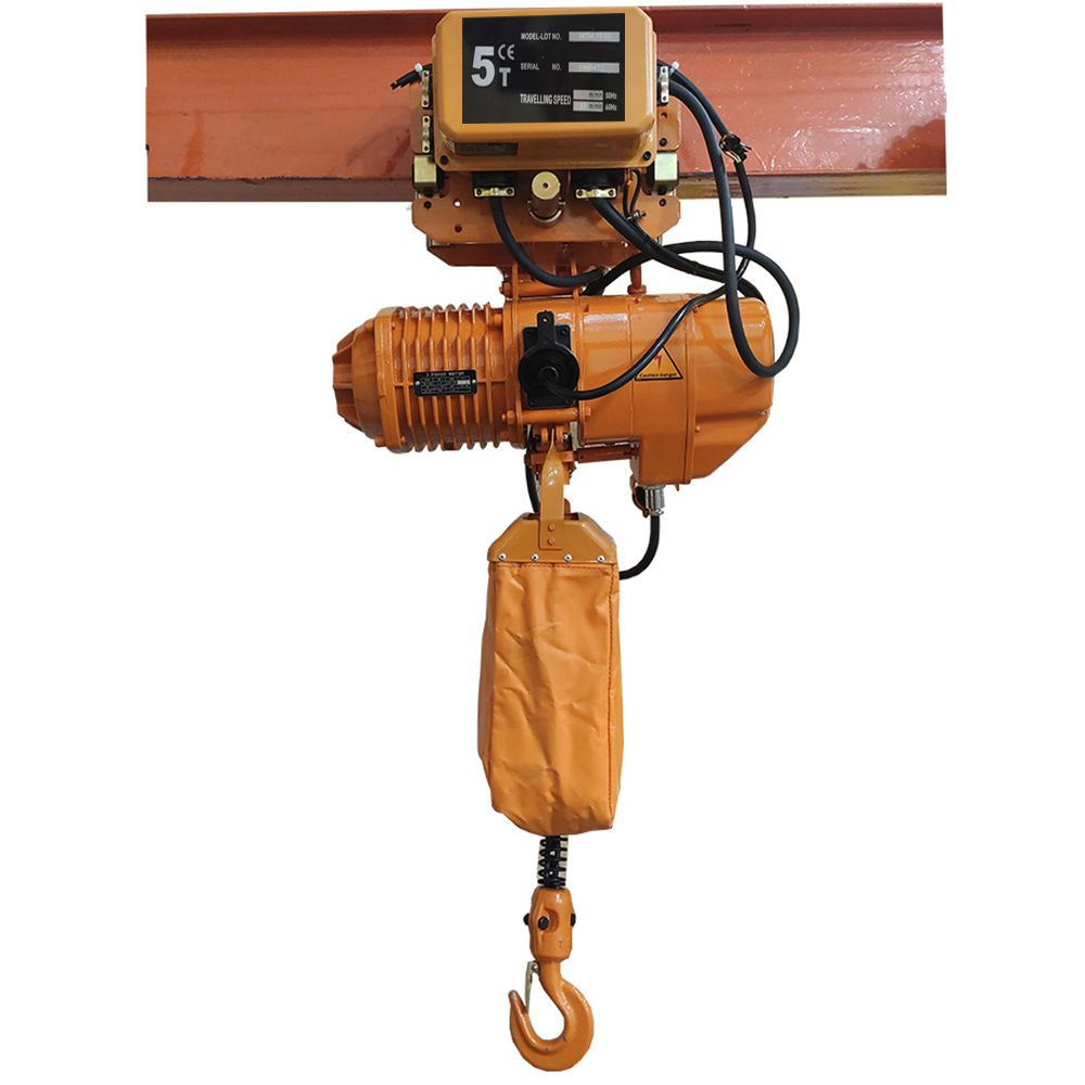 Talha Elétrica 5 Ton- 6m de Corrente - 220/380v com Troler