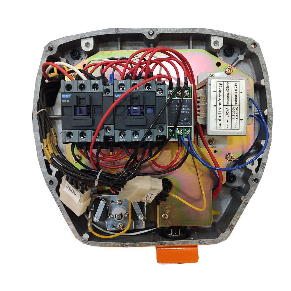 Talha Elétrica 5 Ton - 9m de Corrente - 220/380v com Troler