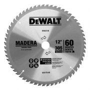 """12""""60D Lâmina Serra Circ e Esquadria Madeira DeWALT Acompanha 2 buchas de redução de 20mm e 25mm"""