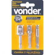 Adaptador P/ Soquetes Jogo C/ 3 Peças Vonder 3599000303