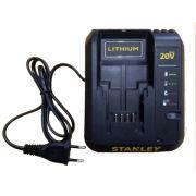 Carregador de Bateria 127V p/ Parafusadeira SCD20 Stanley 90624068