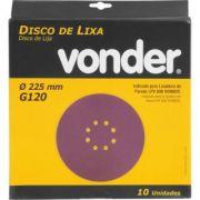 Disco De Lixa 225mm Grão 120 P/ Lixadeira Lpv 600 1258225120 10UN