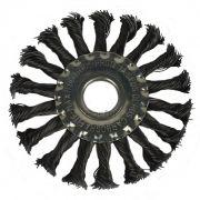 Escova de Aço Circular Trançada Carbografite 4.1/2 X 1/2 X 7/8 CARBOGRAFITE
