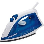 Ferro a Vapor Black & Decker, Base Antiaderente, com Spray, 1100W - AJ2000AZ Azul, 110V