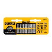 Jogo Bits Torx 7 peças Dewalt DWA1TS-7  Maxfit T10 T15 T20 T25 T27 T30 T40