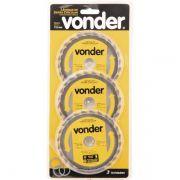 Jogo de 3 Disco Serra Circular Vídea 110mm x 20mm x 24dentes VONDER 4675113224