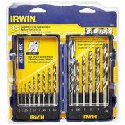 Jogo de Broca Irwin 1,5 a 10mm c 15 pç Metal 1865314