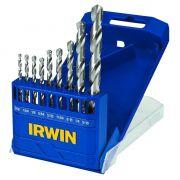 Jogo de Brocas Irwin 9 pçs p Metal 1865291