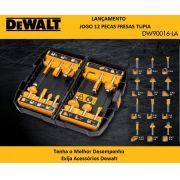 Jogo de Fresas p/ Tupia 8mm 12 Peças DW90016 Dewalt