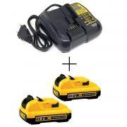 Kit 2 Baterias 12v 2,0ah + Carregador Bivolt DCB107 Dewalt
