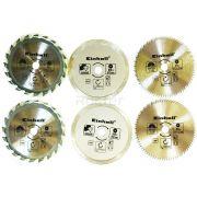 KIT 6 Discos p/ Mini Serra Einhell 4502128