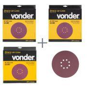 KIT de Disco De Lixa 225mm Grãos 100, 180 Para Lixadeira LPV 600 e LPV1000 Vonder