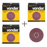 KIT de Disco De Lixa 225mm Grãos 150 Para Lixadeira LPV 600 e LPV1000 Vonder
