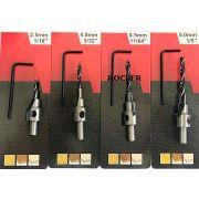 kit Escariadores c/ 4 Unidades Ctpohr 2.5, 4, 4.5 e 5mm p/ Madeira