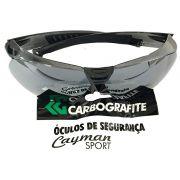 Óculos Segurança Cayman Sport Cinza Espelhado Carbografite