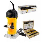 Tupia Manual Elétrica Fixa 500W TLV506 Vonder 110V+Fresas Vonder