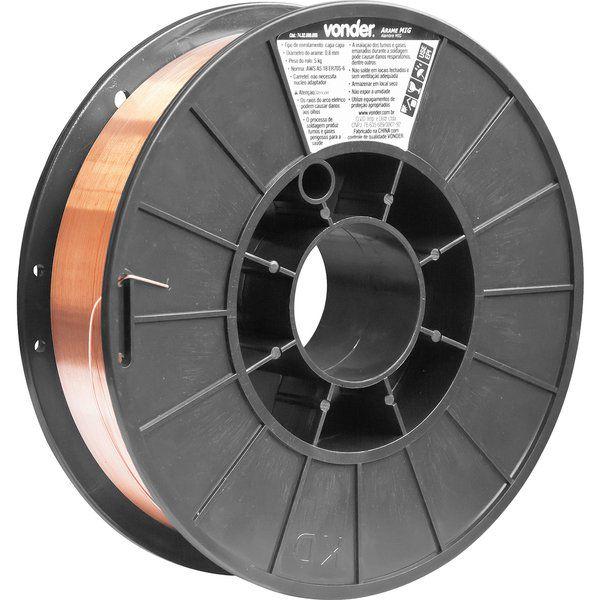 Arame Mig 0,8MM Carretel 5KG Vonder 7432008005