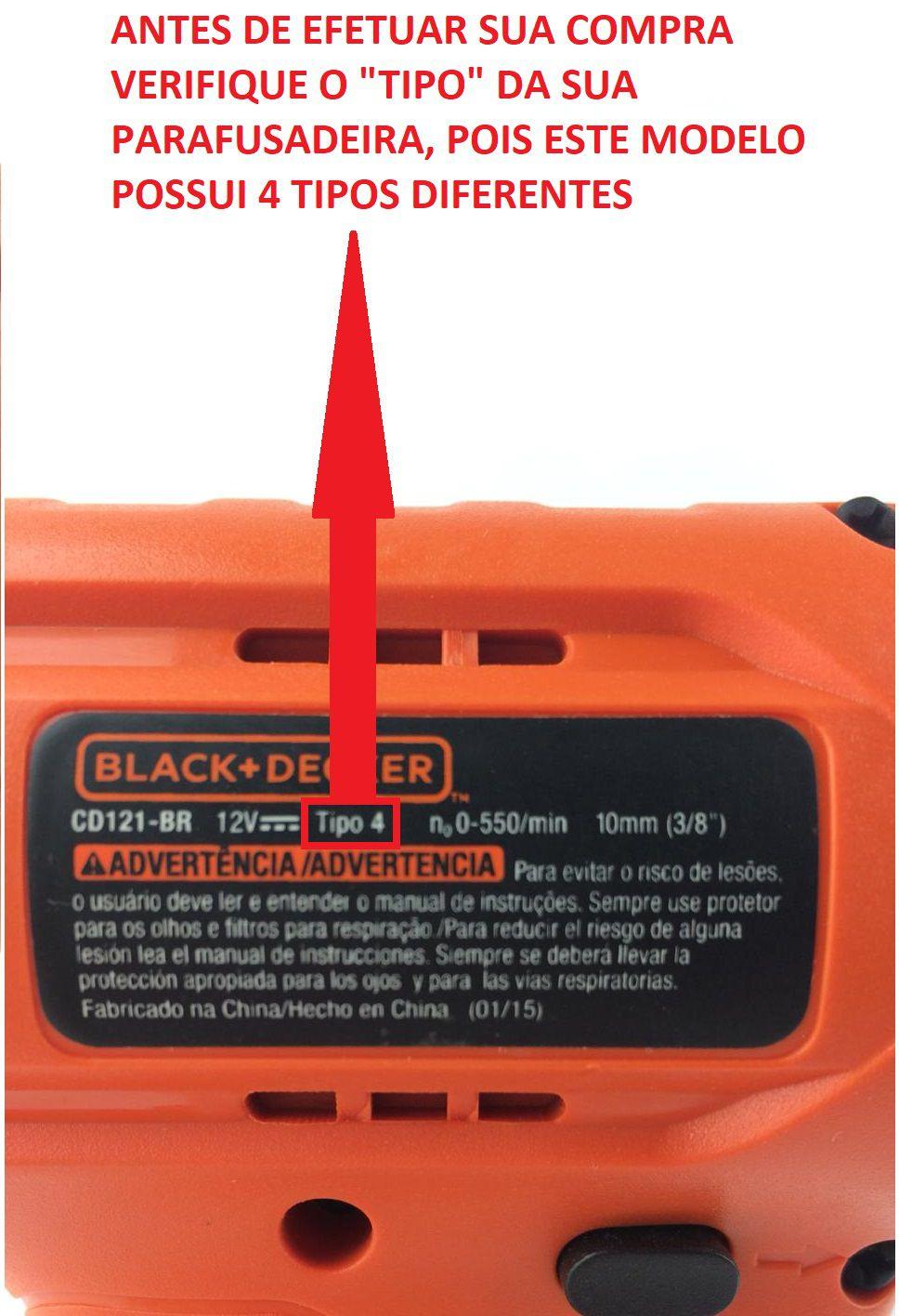 Bateria Original P/Parafusadeira Cd121 12v Black+Decker 5140112-08