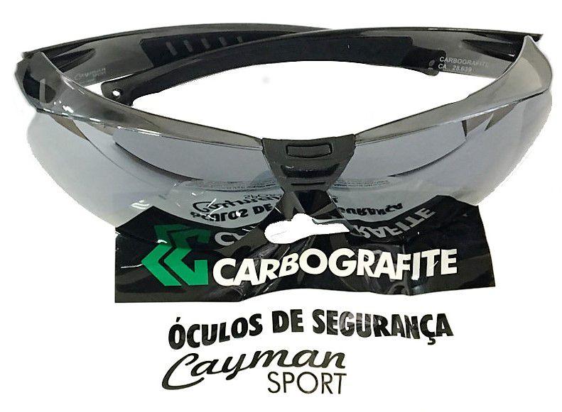 5c4b8af74 Óculos Segurança Cayman Sport Cinza Espelhado Carbografite - Rocfer ...