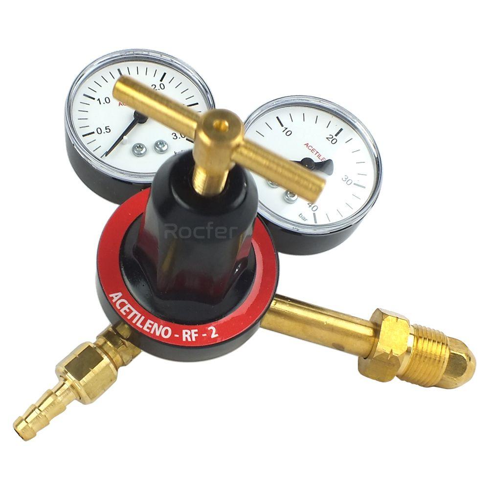 Regulador de Pressão Acetileno Rocfer RF2