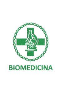 Bordado do símbolo da profissão - Biomedicina