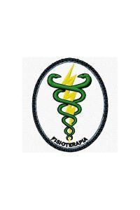 Bordado do símbolo da profissão - Fisioterapia